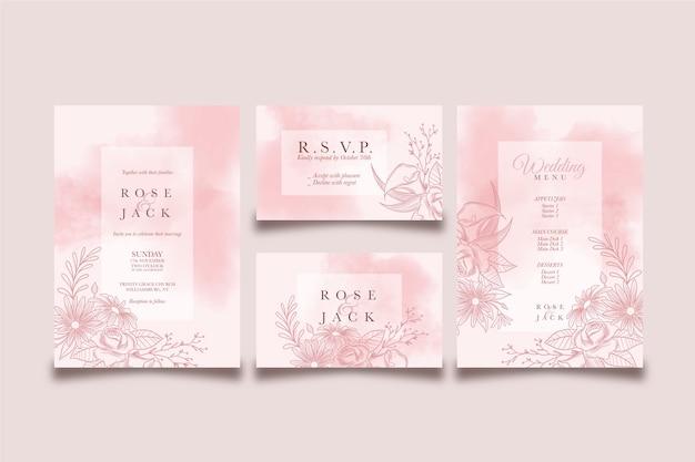 Bruiloft sjabloon concept en ontwerp