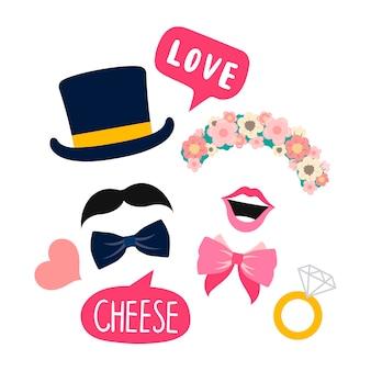Bruiloft stand rekwisieten voor vrouw en man vector