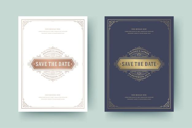 Bruiloft uitnodiging bewaar de datumkaart