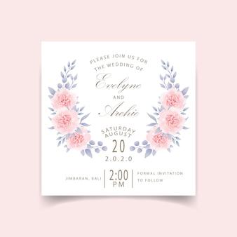 Bruiloft uitnodiging bloemen rozen