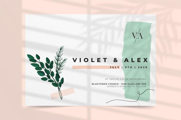 Bruiloft uitnodiging concept