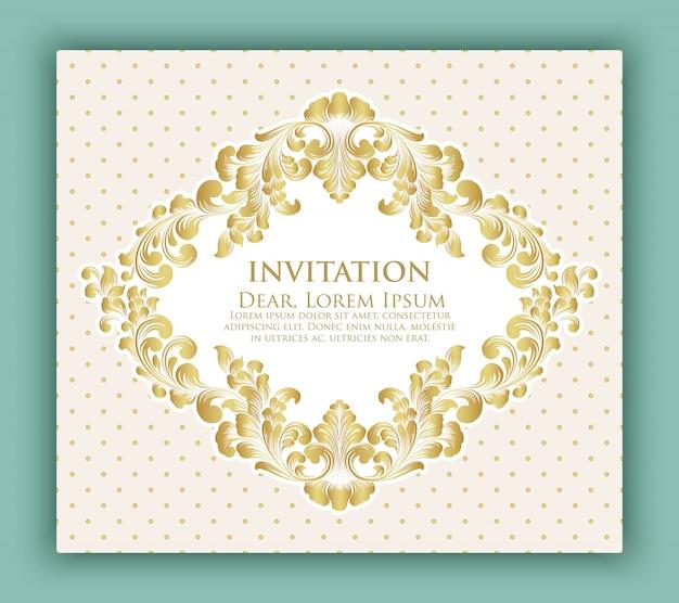 Bruiloft uitnodiging en aankondiging kaart met bloemmotief