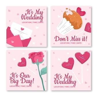 Bruiloft uitnodiging instagram post