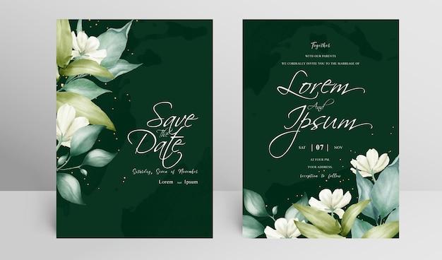 Bruiloft uitnodiging kaartensjabloon