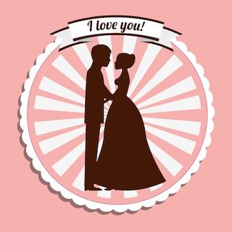 Bruiloft uitnodiging lavel