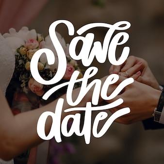 Bruiloft uitnodiging met foto concept