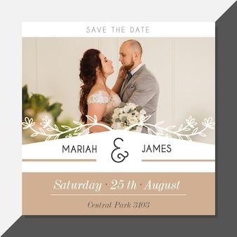 Bruiloft uitnodiging met foto