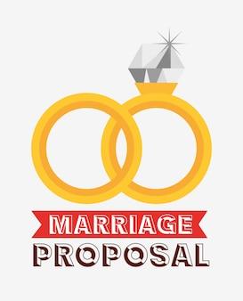 Bruiloft uitnodiging met gegolfde ringen