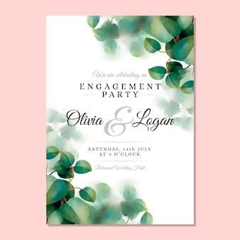 Bruiloft uitnodiging natuurlijke sjabloon