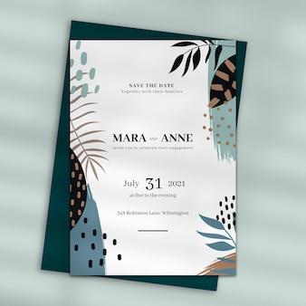 Bruiloft uitnodiging ontwerp