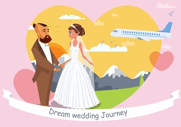 Bruiloft uitnodiging platte sjabloon