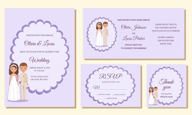 Bruiloft uitnodiging sjablonen