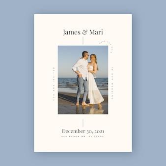 Bruiloft uitnodiging sjabloon met partners