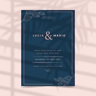 Bruiloft uitnodiging sjabloon stijl
