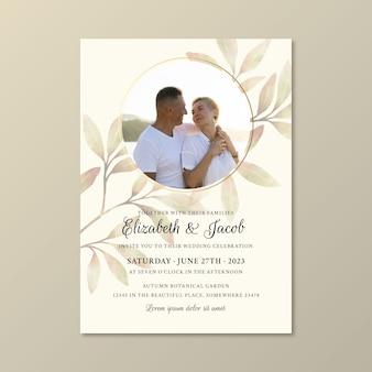 Bruiloft uitnodiging sjabloon thema