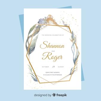 Bruiloft uitnodiging sjabloon