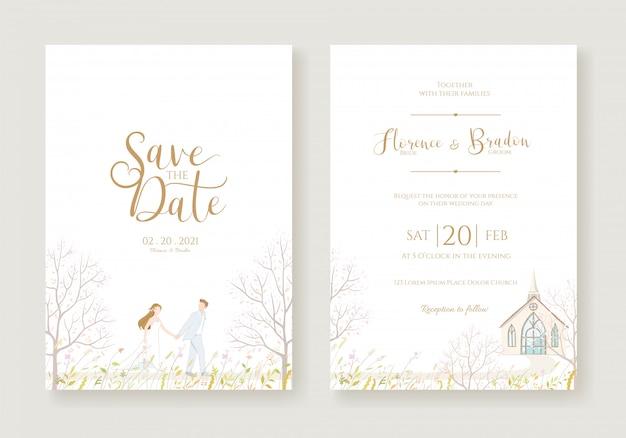 Bruiloft uitnodiging sjabloon.