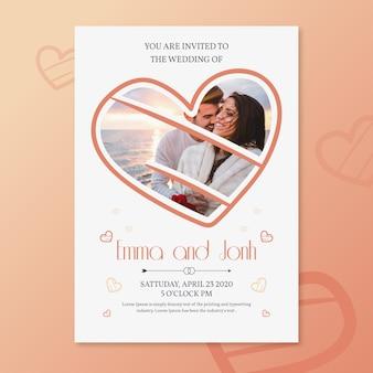 Bruiloft uitnodiging sjabloonontwerp