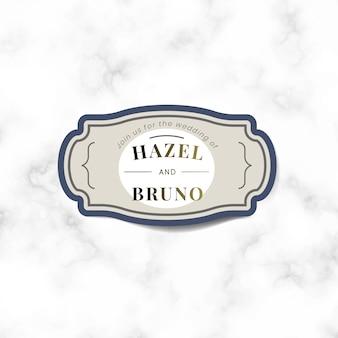 Bruiloft uitnodiging sticker label vector