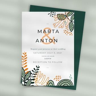 Bruiloft uitnodiging stijl