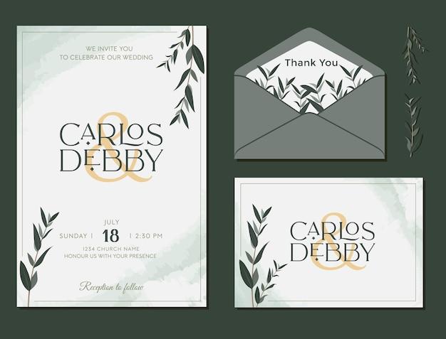 Bruiloft uitnodiging verlovingskaart rsvp bloemen sjabloon ontwerp vector