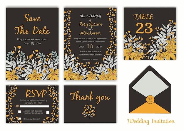 Bruiloft uitnodigingskaart, geschenk tags kaart