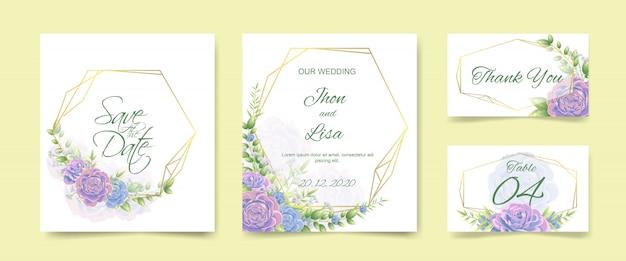 Bruiloft uitnodigingskaart set