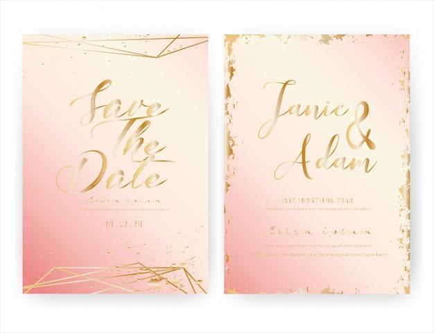 Bruiloft uitnodigingskaart, sparen de datum bruiloft kaart.