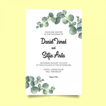 Bruiloft uitnodigingskaart