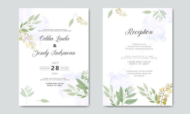Bruiloft uitnodigingskaarten met prachtige bloemen