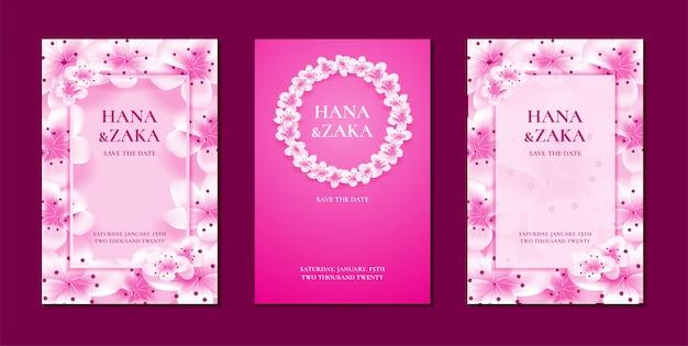 Bruiloft uitnodigingskaarten sakura kersenbloesem