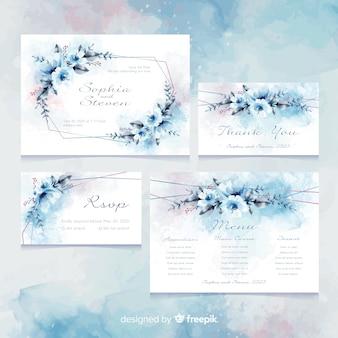 Bruiloft uitnodigingskaartsjabloon