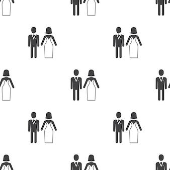 Bruiloft, vector naadloos patroon, bewerkbaar kan worden gebruikt voor webpagina-achtergronden, opvulpatronen