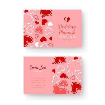 Bruiloft visitekaartje sjabloon