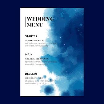 Bruiloftsmenu in minimalistische stijl
