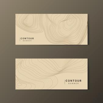 Bruin abstracte contourlijnen collectie