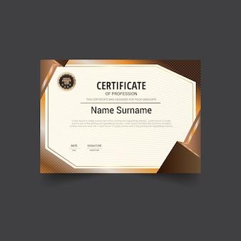 Bruin certificaat