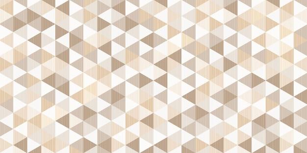 Bruin driehoekig patroon met lijnmaaswerk aan de binnenkant, abstracte geometrische veelhoekige achtergrond