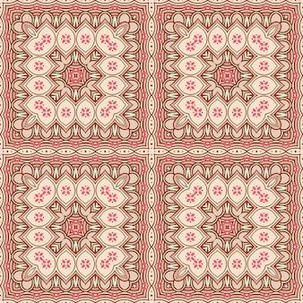 Bruin en beige vierkant patroon