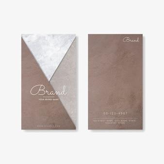 Bruin geometrisch visitekaartje