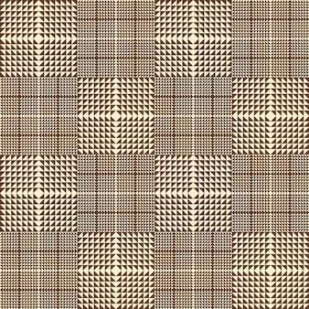 Bruin geruite naadloze patroon