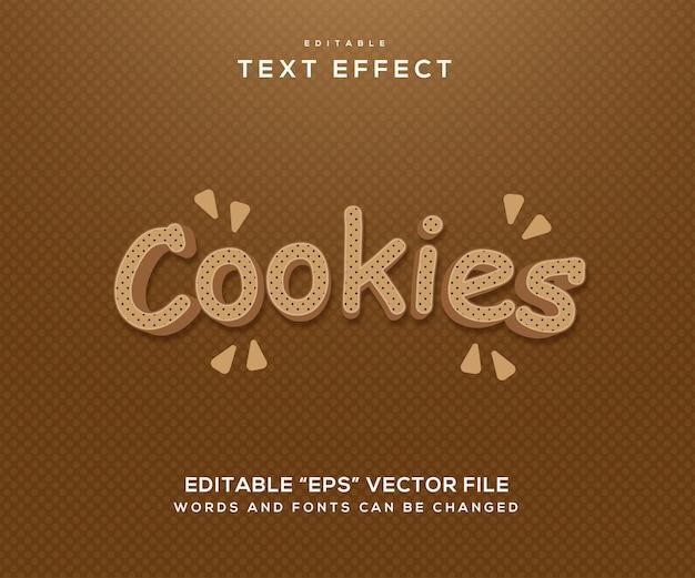 Bruin koekjes teksteffect