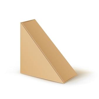 Bruin lege kartonnen driehoek weg te nemen dozen verpakking voor sandwich