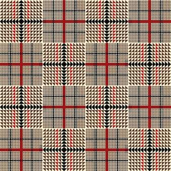 Bruin mode plaid patroon