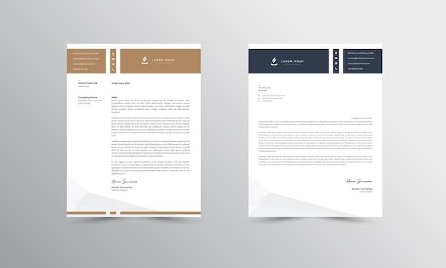 Bruin moderne zakelijke briefhoofd ontwerpsjabloon
