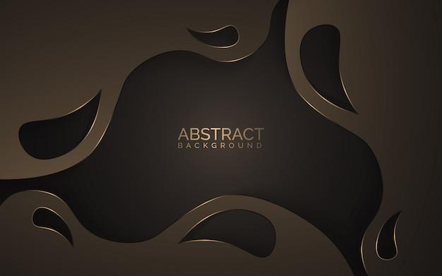 Bruine abstracte papier gesneden achtergrond