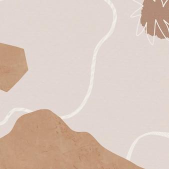 Bruine achtergrondvector met abstracte de bergillustratie van memphis in aardetoon