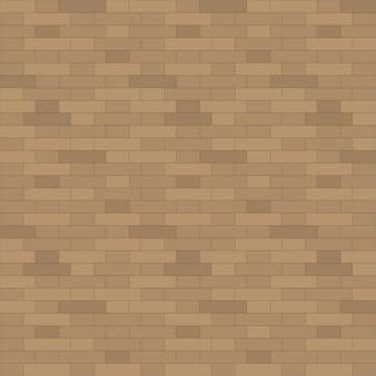 Bruine bakstenen muur textuur achtergrond - vectorillustratie.