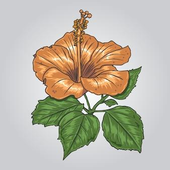Bruine bloem