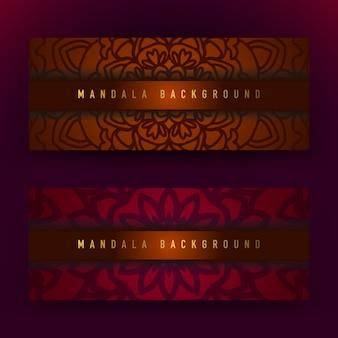 Bruine en paarse mandala achtergrond